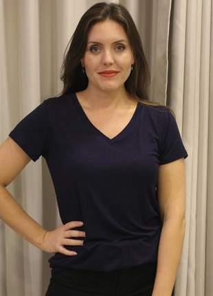 Blusa feminina basica decote v
