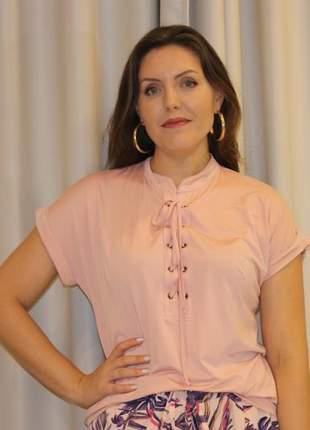Blusa de ilhós feminina
