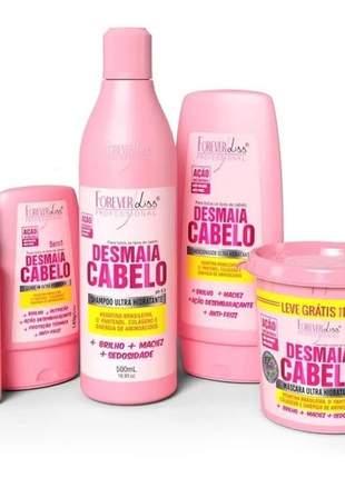 Creme de hidratação para cabelo ressecado anti frizz reparação total desmaia cabelo