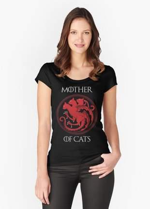 Blusinha mother of cats - coleção serie #gameofthrones