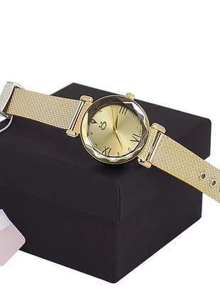 Relógio feminino pulseira de silicone - luxo