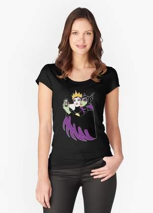 Blusinha feminina vilãs disney - malevola e rainha má