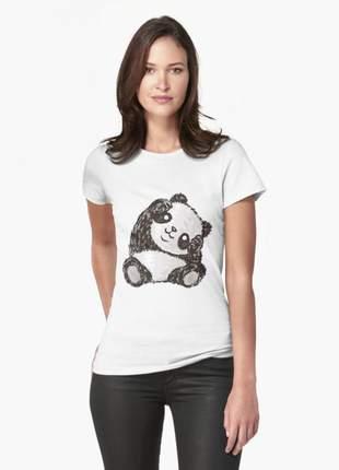 Blusinha feminina panda