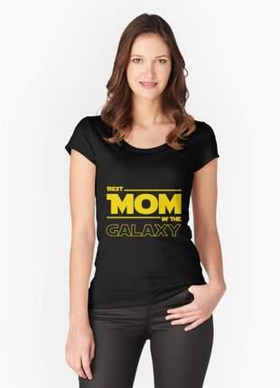 Blusinha feminina - melhor mãe da galaxia - dia das mães star wars