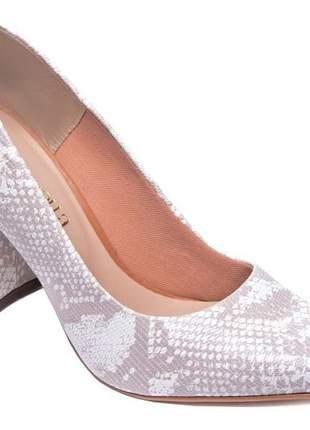 Sapatos femininos scarpins animal print cobra