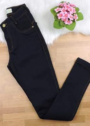 Calça jeans skinny com lycra azul marinho cljeam03