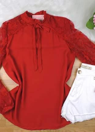 Blusa tule vermelha bs144