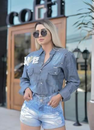 Camisa jeans love