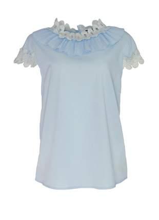 Blusa infinity fashion gola azul bebê