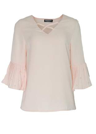 Blusa infinity fashion pérolas rose