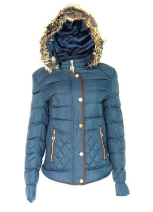 Jaqueta infinity fashion nylon azul marinho