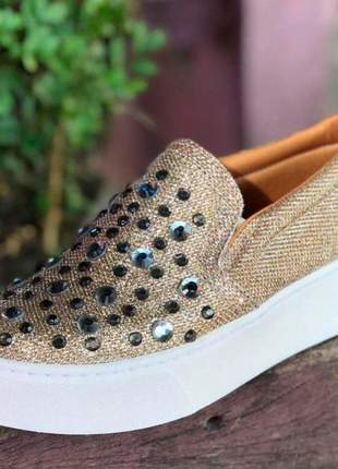 Slip on lurex