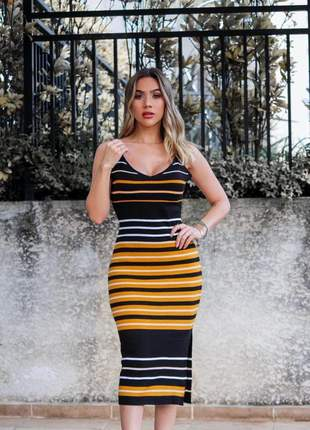 Vestido   midi em modal com fenda na lateral primavera verão 2020 lançamento