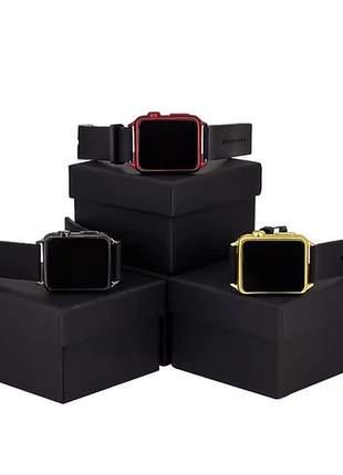 Kit 3 relógios feminino digital de led