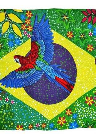 Canga praia estampada brasil