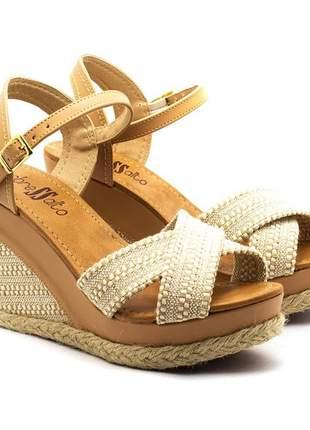 Sandália feminina anabela sobressalto x
