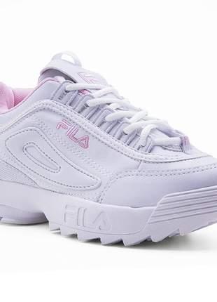 Tênis fila - branco e rosa