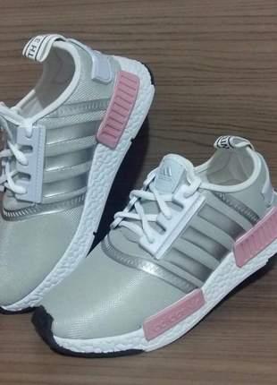 Tênis adidas nmd - cinza e rosa