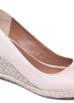 Sapato anabela feminina