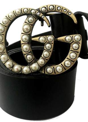 Cinto de couro legítimo preto - 4cm - cintos exclusivos - feminino