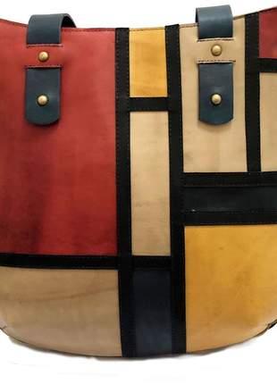 Bolsa de couro legítimo bege claro - cintos exclusivos - feminino