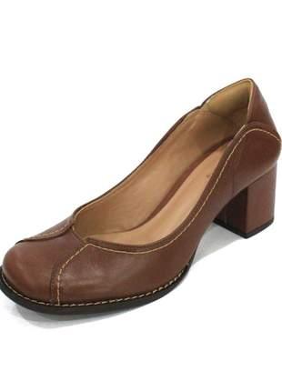 Scarpin couro dali shoes boneca salto grosso