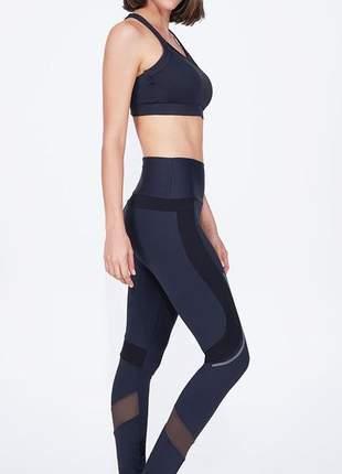 Legging alto giro athletic cintura alta preta