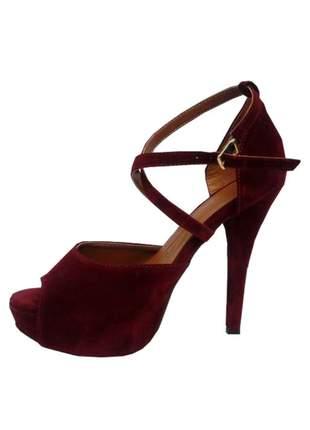 Sandália feminina salto alto fino confort miss marrie