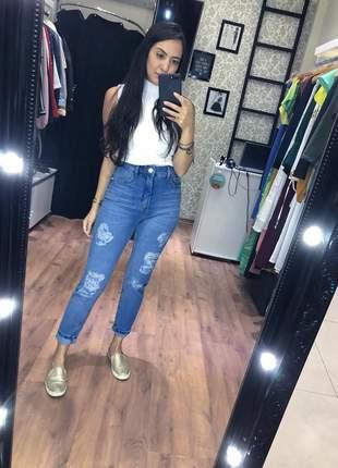 Calça jeans mom mucs