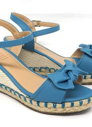 Sandália feminina espadrille glendale azul