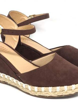 Sandália feminina espadrille glendale marrom