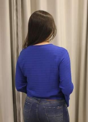 Título: blusa feminina nozinho e manga flare