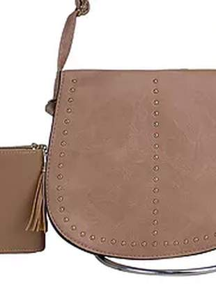 Kit bolsa feminina + carteira casual