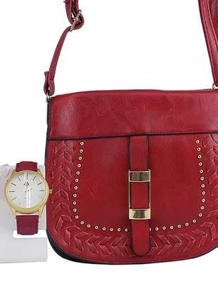 Kit relógio feminino + relógio casual