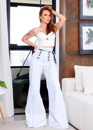 Calça jeans  clochard  flare pantalona