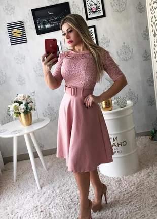 Vestido midi camille gode