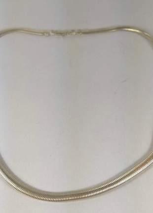 Colar prata 925 modelo rabo lacraia