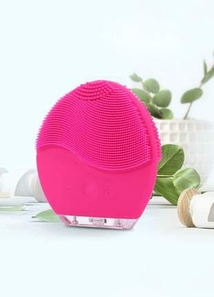 Escova massageadora e limpeza facial elétrica recarregável