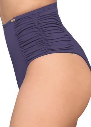 80006 - calcinha de biquíni retrô pin up cintura alta