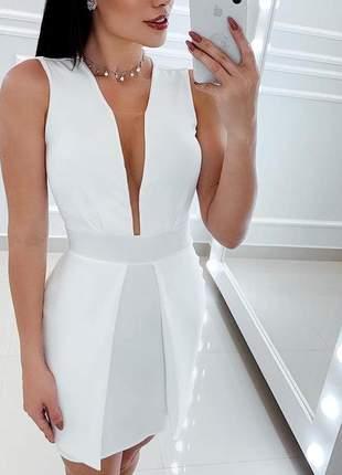 Vestido branco off white tubinho executivo clássico