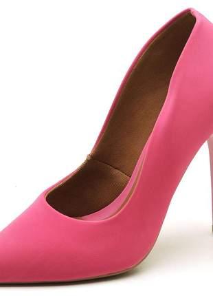 Sapato social feminino scarpin nobuck rosa salto alto fino 11 cm