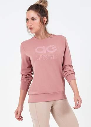 Blusa alto giro apolo com tela nas costas rose