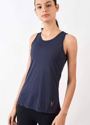 Camiseta evolution feminina básica azul marinho