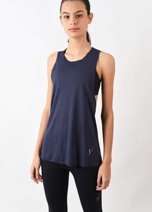 Camiseta evolution feminina cavada azul marinho