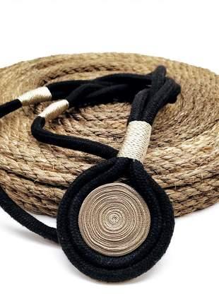 Colar de corda de algodão