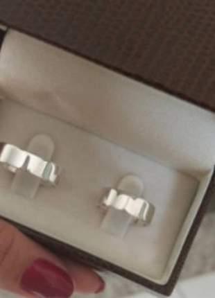 Par de aliança 6mm reta em prata