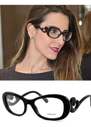 Armação óculos p/ grau baroque preto blogueiras prd +case