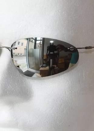 Óculos de sol neo new espelhado prata - azul