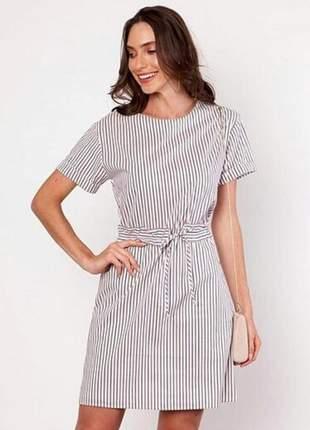 Vestido listras striped em algodão, poliamida, elastano e poliester.