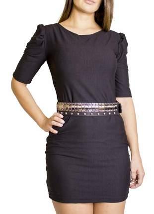 Cinto dress code moda preto